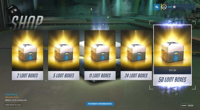 Buying Loot Boxes in OverWatch?